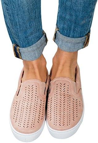 Paris Hill Women's Casual Hollow Loafer Canvas Flats Shoes