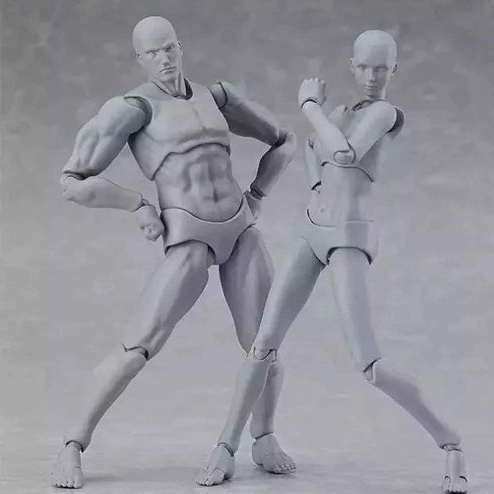 Maniqu/í de dibujo MuZhuo Art Doll Modelo Maniqu/í humano 15 cm Cuerpo de la mu/ñeca Hombre//Mujer Acci/ón para Prototipo Boceto Maniqu/í T/ítere Joven Bricolaje Herramientas//Regalos