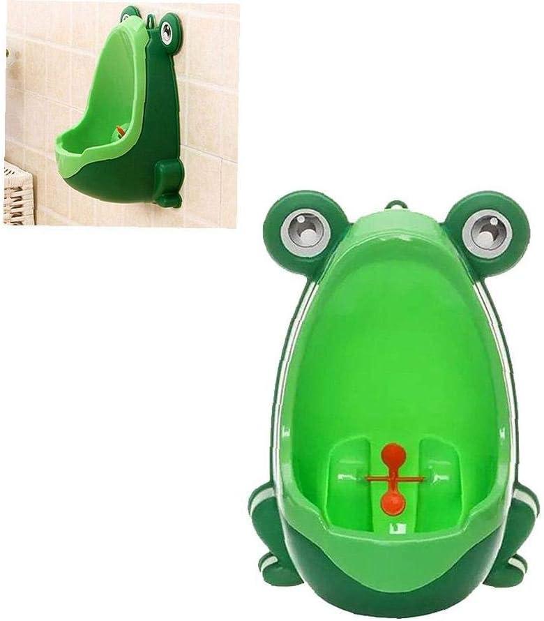 YZLSM Mignon Enfants Grenouille Potty Toilette Entra/înement Enfant Urinoir pour gar/çons Pee Formateur Salle Vert