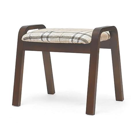 Amazon.com: Taburete zapatero de madera para sala de estar ...