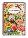 Cavallini Garden Variety, 12 Postcards per Tin