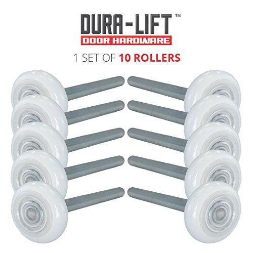 Durabilt DLRS13 Ultra-Seal 2' Nylon Garage Roller with sealed 13-Ball Bearing and 4' Stem, 1.82' Width, 0.44 Nylon (Pack of 10)