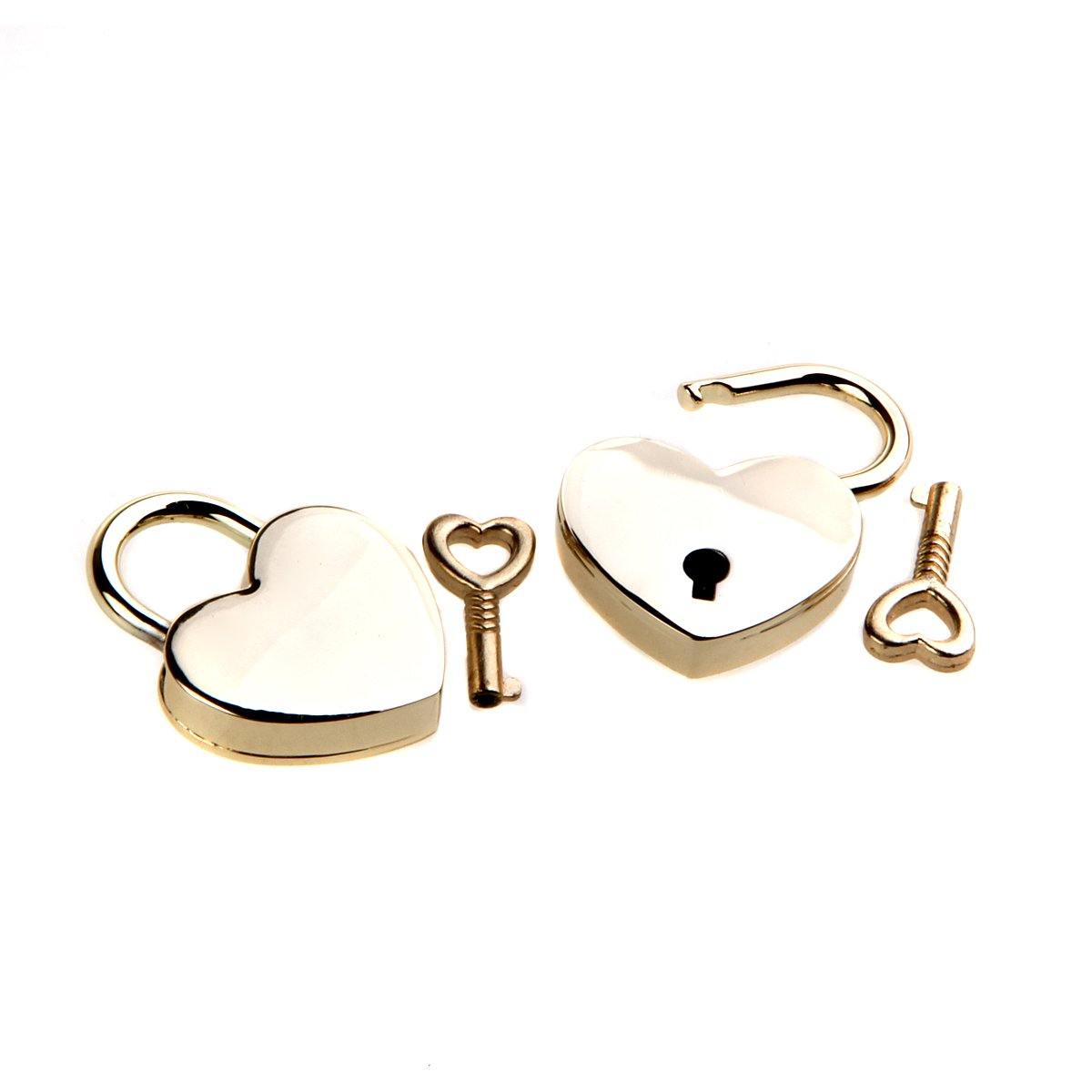 Sealike Cute Mini Love Heart Padlock and Key for Valentines Day Gift and Wedding Favor with Stylus