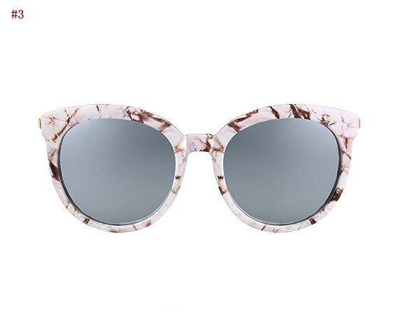 Flashing- la mode des lunettes de soleil à la mode rétro lunettes de soleil de mode lunettes de soleil polarisées Mme ( Couleur : #5 ) RnEdqaE