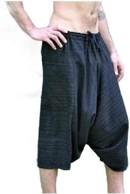 Tootess Men's Elastic Drawstring Relaxed Fit Summer Folk Style Leg Pants