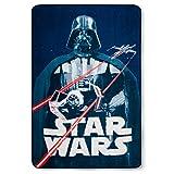 Jay Franco Star Wars Classic Vintage Logo Blanket Blue