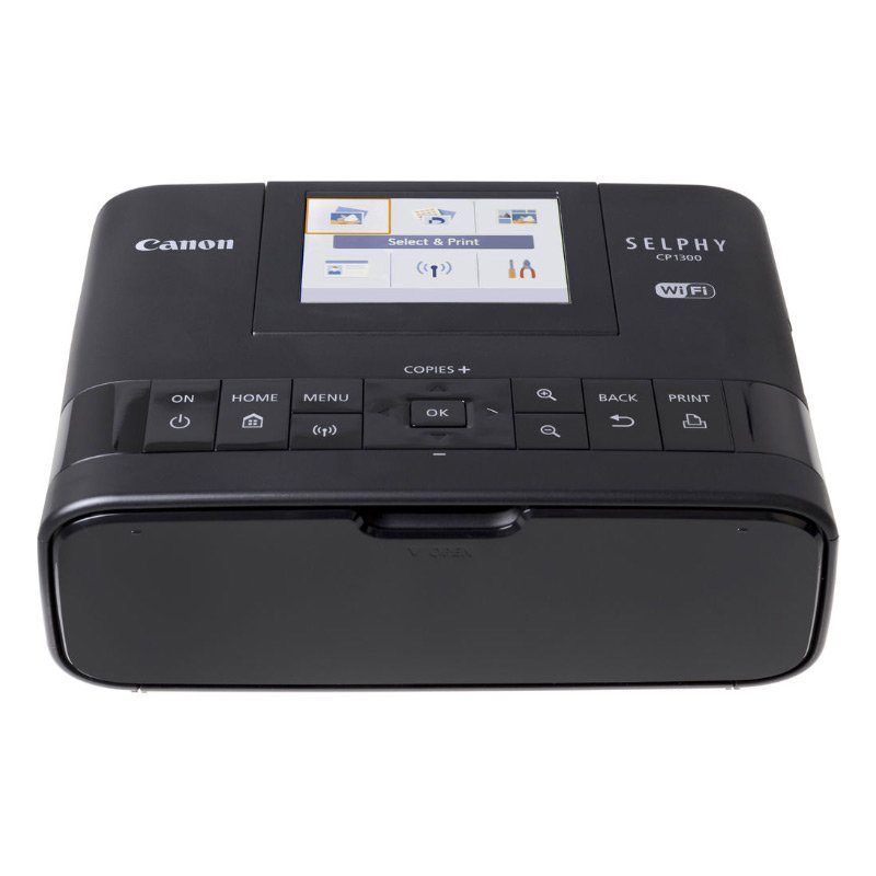 Canon SELPHY CP1300 Wireless Compact Photo Printer with AirPrint and Mopria Device Printing, Black (2234C001) by Canon (Image #2)