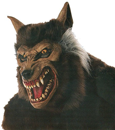 Werewolf Deluxe Mask Halloween Costume - Most Adults (Deluxe Mask Latex Adult Wolf)