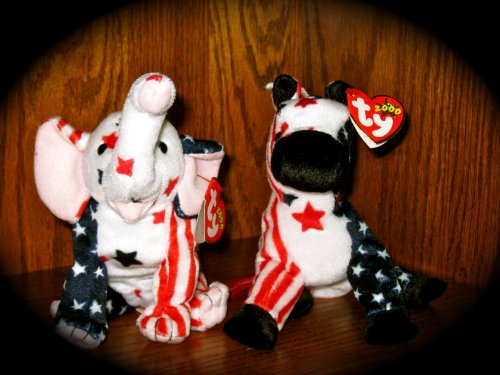 Ty Lefty 2000 and Righty 2000 Beanie Babies ()
