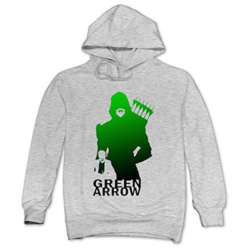 XJBD Men's Green Arrow Sweatshirt Ash Size L