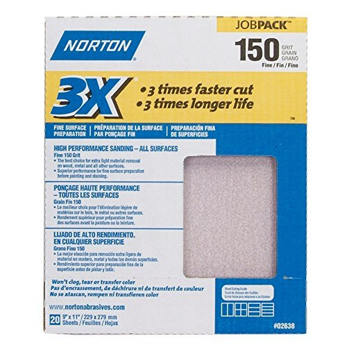 3X Sandsheet 150 Grit Sandpaper 9'' X 11''