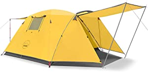KAZOO Outdoor Camping Tent Durable Waterproof, Family Large Tents 4 Person, Easy Setup Tent with Porch Double Layer