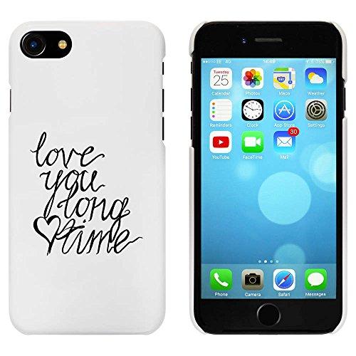 Blanc 'Love You Long Time' étui / housse pour iPhone 7 (MC00077362)