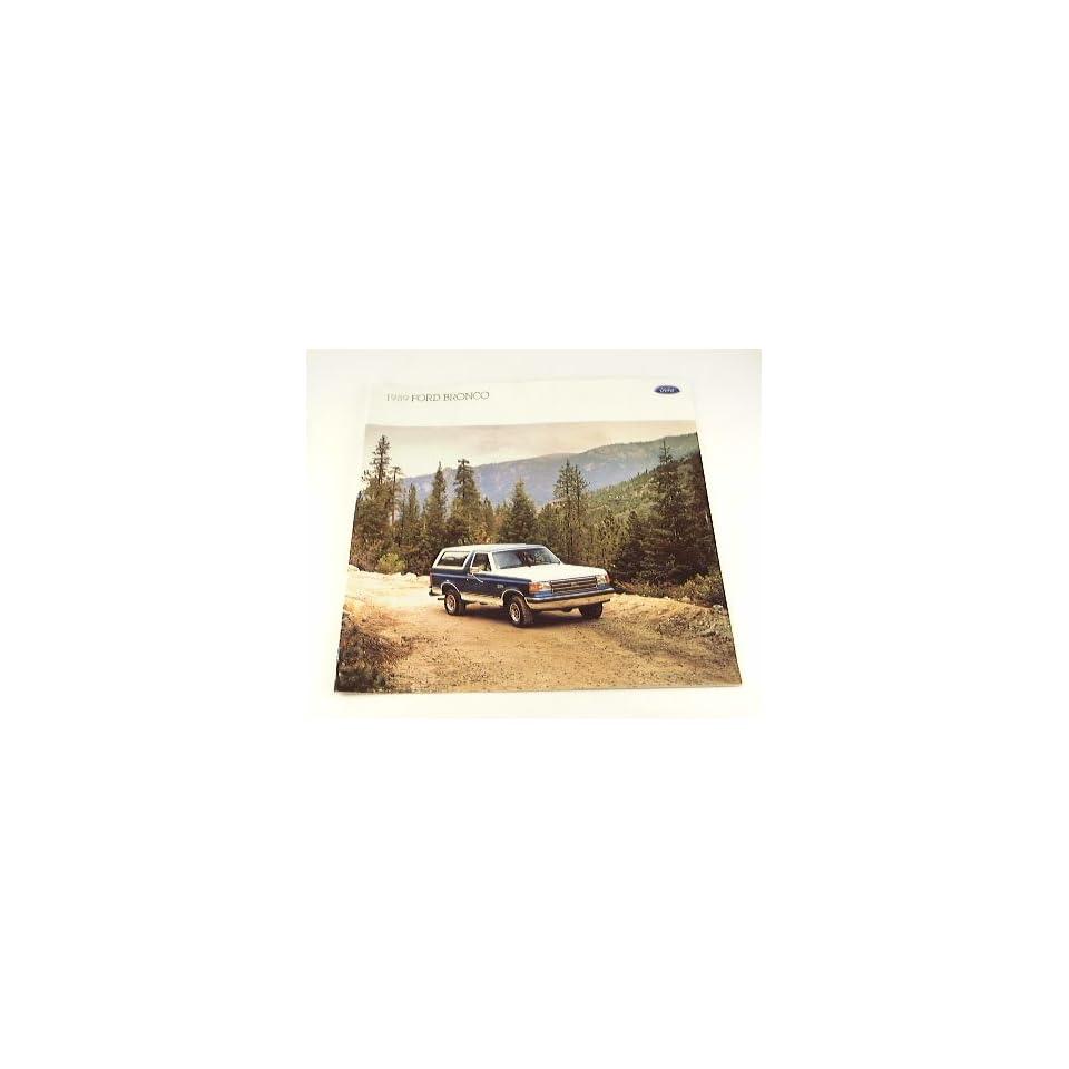 1989 89 Ford BRONCO Truck BROCHURE Custom XLT Eddie