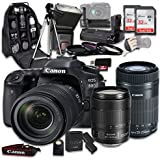 Canon EOS 80D Wi-Fi Full HD 1080P Digital SLR Camera with Canon EF-S 18-135mm f/3.5-5.6 IS USM Lens + Canon EF-S 55-250mm f/4-5.6 IS STM Lens