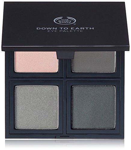 The Body Shop Down To Earth Eyeshadow Quad, Grey, 0.28 Ounce