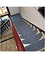 Carpet Stair Treads, Non Slip Carpet Stair Treads Non-Slip,Skid Rubber Runner Mats or Rug Tread 15 Setof(25.59''x9.44''/ 65x24cm) (Color : Grey)