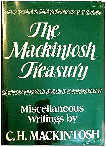 Amazon mackintosh treasury miscellaneous writings mackintosh treasury miscellaneous writings 1st edition fandeluxe Gallery