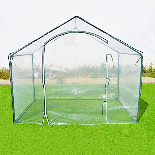 BenefitUSA 1002-2 Outdoor Gardening Greenhouse, Transparent