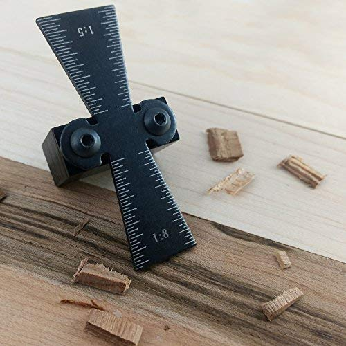 """ATLIN Dovetail Marker – Dovetail Jig Guide for 1"""" Dovetails Featuring 1:5 and 1:8 Slopes by ATLIN (Image #4)"""
