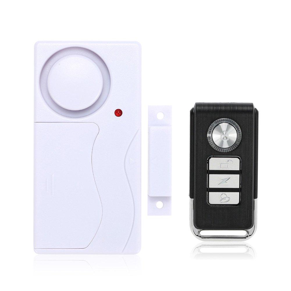 Mengshen Inalámbrico casa puerta ventana alarma de ladrón DIY Seguridad Sistema de alarma de seguridad Sensor magnético con control remoto - 1 Alarma 1 M64