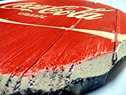 Vintage Coca-Cola wooden sign | Weathered look | Faux antique rustic, decorative sign