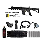 MAddog Tippmann U.S. Army Project Salvo Tactical Red Dot Paintball Gun Package