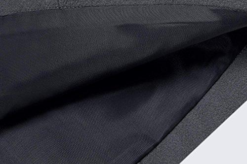 Capucha Sudadera ANGVNS Parka de con Jacket Casual Lana Abrigo Pullover Invierno Oscuro Gris Capa Chaqueta tXwqrTtf