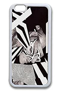 Black White Slim Soft Cover for iPhone 6 Case (4.7 inch) TPU White Cases