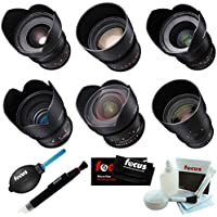 Rokinon Cine DS 6 Lens Bundle for Sony E Mount (14, 24, 35, 50, 85, and 135mm)