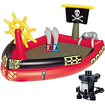 Banzai ahoy matey pirate ship boat pool raft float toys games for Swimming pool applewood swords