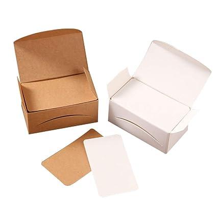 Toyvian Tarjetas de nota en blanco Retro Blocs de notas DIY Kraft ...