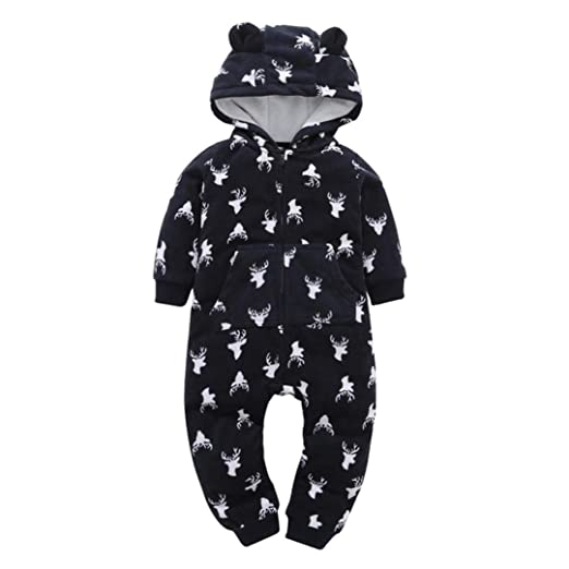 3c1c3adbf Amazon.com  Christmas Party Baby Boy Girl Cute Thicker Fleece Hooded ...
