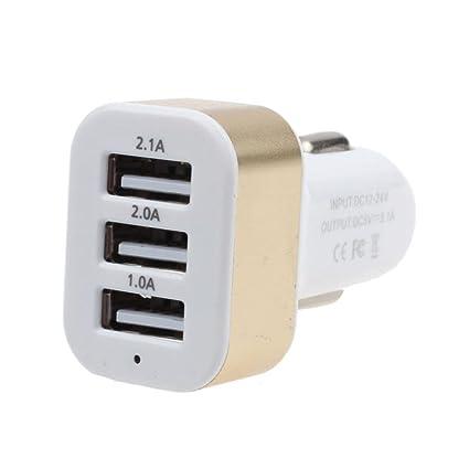 Oyedens Cargador Coche Universal Usb Car Charger 12V 24V A 5V 3 Puerto USB Cargador Movil Coche Del Adaptador Para GPS Del TeléFono Celular GPS ...