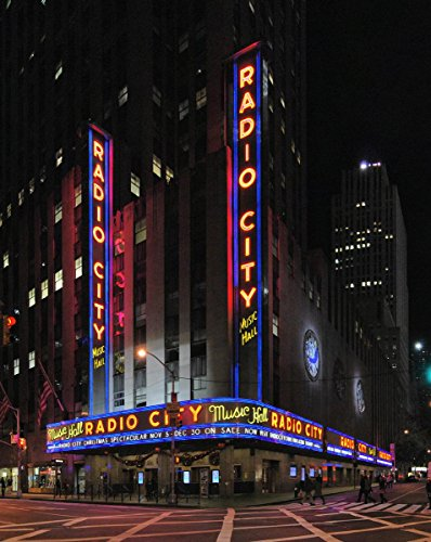 Hall Radio Music Photos City - Quality Prints - Laminated 15x19 Vibrant Durable Photo Poster - Radio City Music Hall