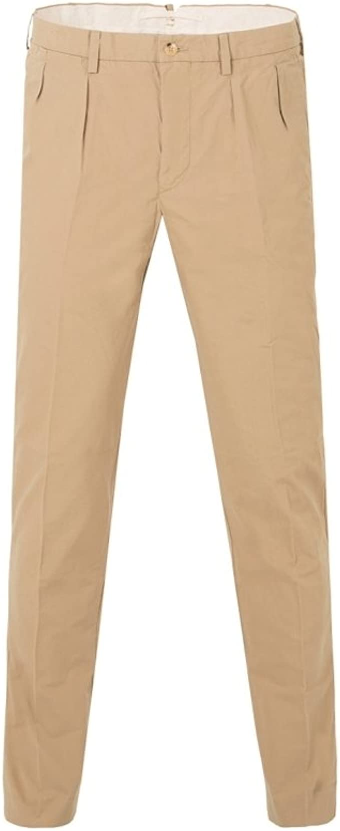 Men/'s Lee Khaki Chino Pants Pleated Front Size 38 x 34