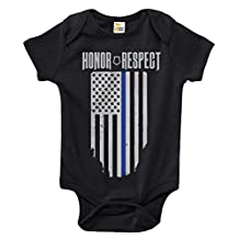 Thin Blue Line Baby Bodysuit Cute Police Baby Clothes for Infant Boys and Girls