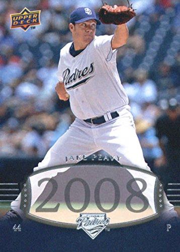 Baseball MLB 2008 Upper Deck Timeline #289 Jake Peavy Padres