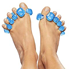 Stretch, revive & exercise your toes in style with Gems, the newest addition to the YogaToes family. With its easy-fit patented design, Gems make YogaToes therapy more accessible. Gems fit between and beneath toes; gently spreading them a...