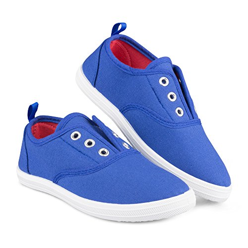 Chillipop Slip-On Laceless Fashion Sneakers for Girls, Boys, Toddlers & Kids Navy