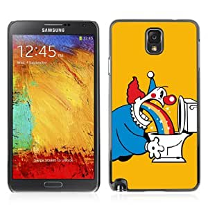 Designer Depo Hard Protection Case for Samsung Galaxy Note 3 N9000 / Clowns & Rainbows