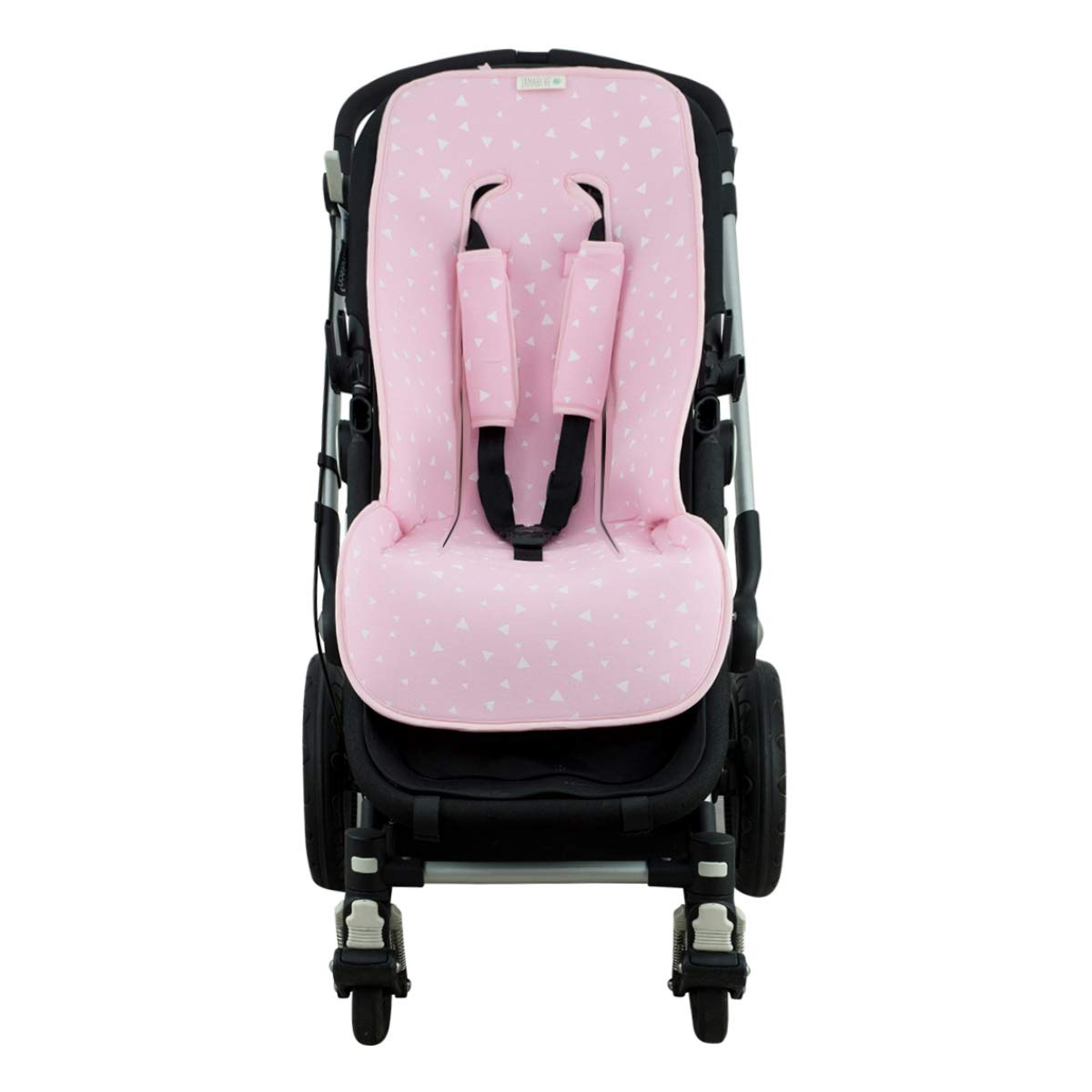 Janabebé Universal Cover Pushchair Luxury Foam + Protection Harnesses (Inglesina, Cibex, Bugaboo and More) (Pink Sparkles) by JANABEBE