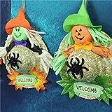 Lannmart Halloween Decoration Pendant 1 Pcs/lot Halloween Horror Scarecrow Pumpkin Straw Ornaments Halloween Accessories Props Supplies