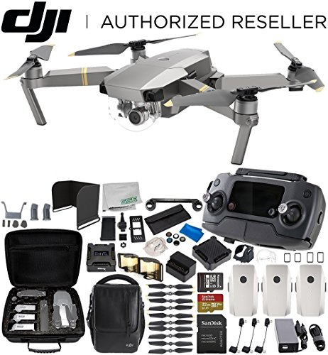 DJI Mavic Pro Platinum Fly More Combo Collapsible Quadcopter 3-Battery Ultimate Bundle