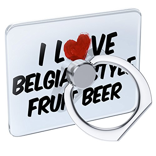 Cell Phone Ring Holder I Love Belgian Style Fruit Beer Collapsible Grip & Stand Neonblond