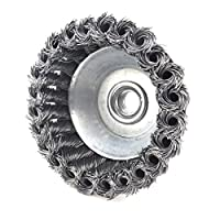 KSEIBI 662165 4 Inch (100 mm) Twisted Knot Cup Brushes Wheels Grinding Metalwork Cleaner