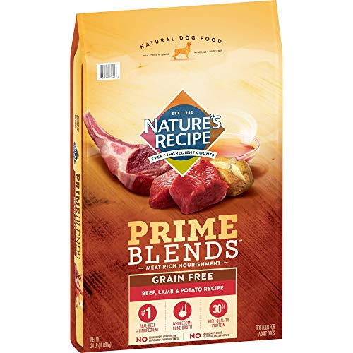 Nature's Recipe Prime Blends, Beef, Lamb, Potato Recipe, Grain Free, Dry Dog Food, 24 lb Bag