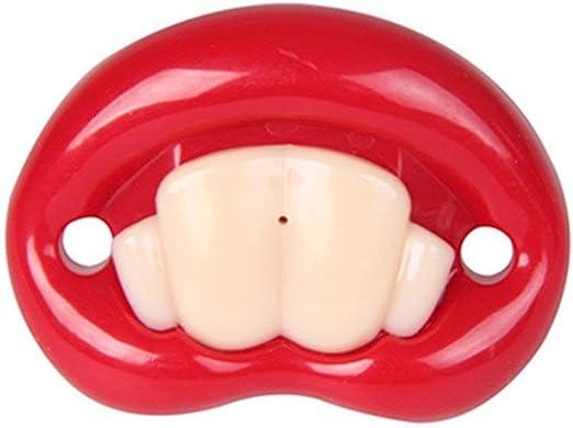 heyme Funny Baby bigote Chupetes Suave Silicona simpático chupete Design con besar labio Funny dientes recién nacido caballero bigote Teeth 1: Amazon.es: Hogar
