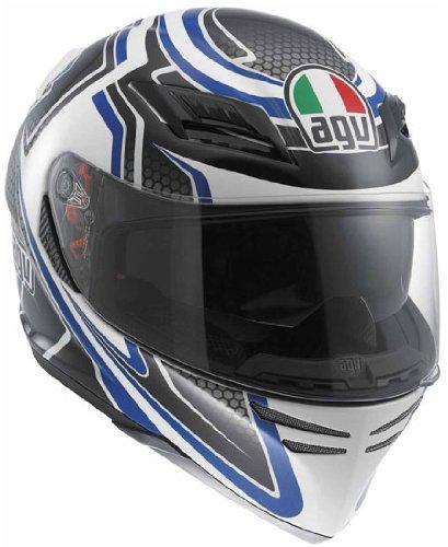 AGV Horizon Racer Full Face Motorcycle Helmet - Blue (Large)
