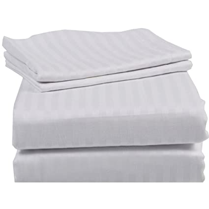 1000tc Egyptian Cotton Home Bedding Collection Full Size Striped Colors
